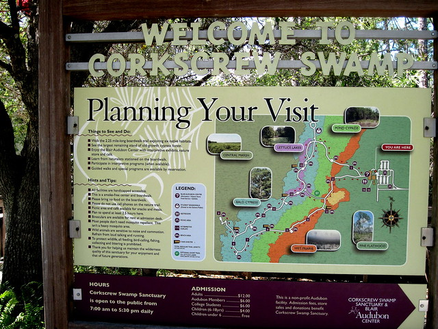 Corkscrew Swamp Map 20130310