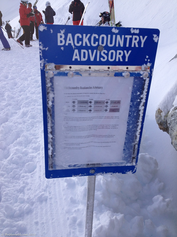 backcountry advisory sign