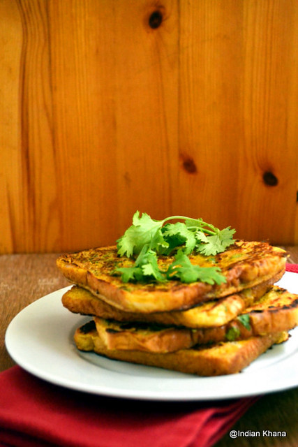 Eggless Savory French Toast Besan Toast Recipe