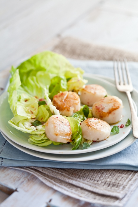 Scallop Salad With Blood Orange Vinaigrette
