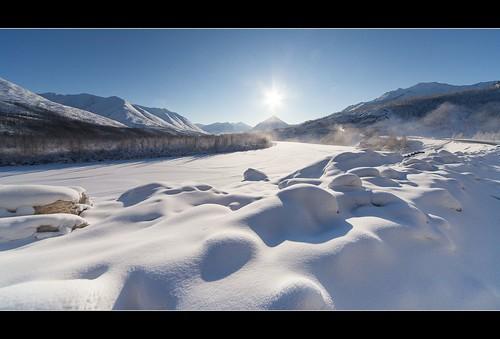 sun snow landscape siberia yakutia sigma1224 ultrawideangle roadofbones sakharepublic extremecoldweather sigma1224mmf4556dgexlens kolymahighway yakutiasiberia verkhoyanskmountains coldestroadonearth