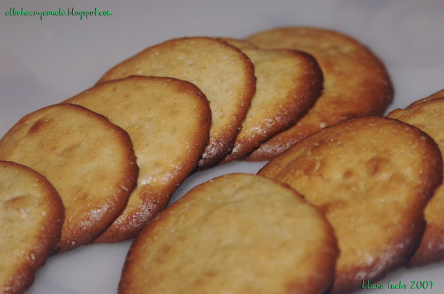 galletas naranja y ron