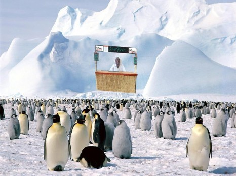 Ian Burrell world's first pop-up rum shack in Antartica
