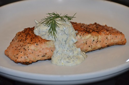 salmon with dill sauce roasted salmon with dijon dill sauce recipe ...