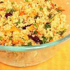 yeung chow fried rice(0.0), produce(0.0), salad(1.0), vegetable(1.0), food grain(1.0), food(1.0), dish(1.0), cuisine(1.0), bulgur(1.0),