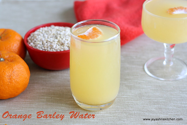 Orange barley water