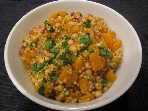 Couscous with Butternut Squash & Pancetta - Idiot's Kitchen