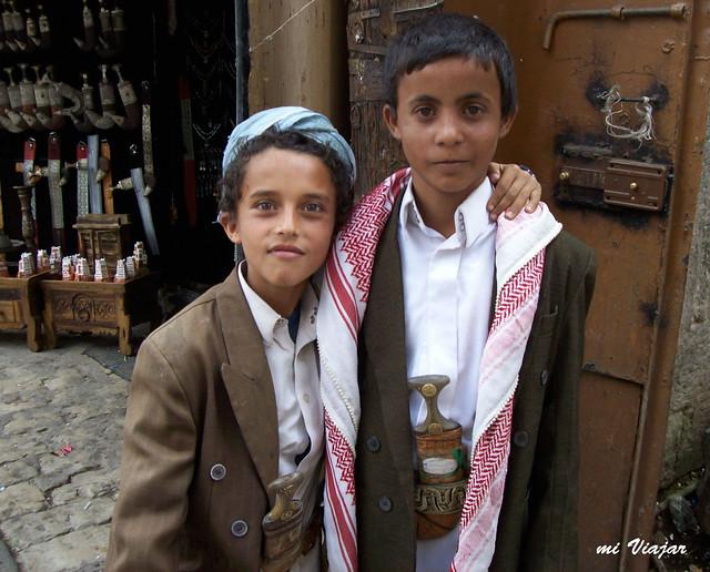 Niños yemeníes