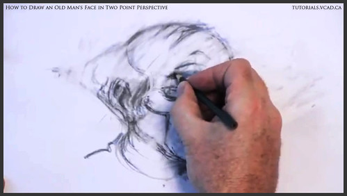 learn how to draw an old man's face in two point perspective 028
