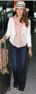 Jessica Alba Flared Jeans Celebrity Style Women's Fashion