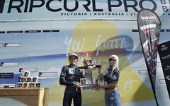 Leonardo Fioravanti and Taitiana Weston-Webb are the 2013 Rip Curl International GromSearch champions.