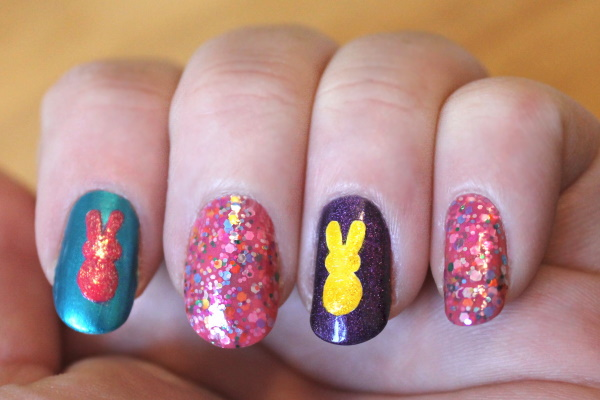 Peeps Nail Art Tutorial, 5