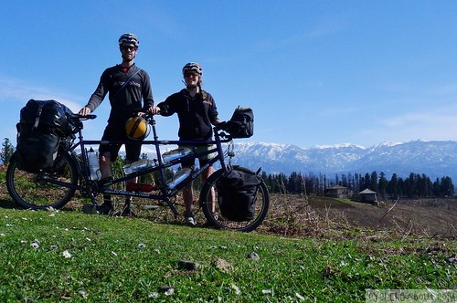 Tandem bicycle touring in Georgia