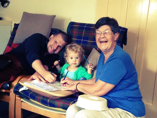 Andrew, Evie and Grandma