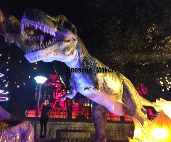Animatronic Dinosaur in the public park