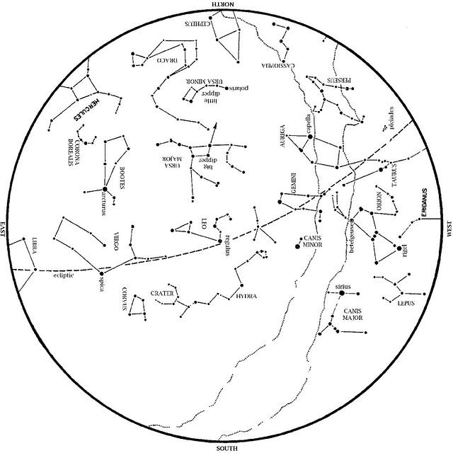 Sky Map April 2013