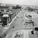 Mayor Frank Hague's Kingdom (part 3). RARE, even older view of smoky, hazy, industrial life at 12th Street and Jersey Avenue by the end of the new State Highway 139 viaduct. Met Life Building and Manhattan skyline in the distance. Jersey City. 1927 by wavz13