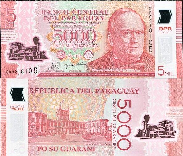 5000 Guaranies Paraguaj 2011