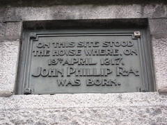 Photo of John Phillip black plaque