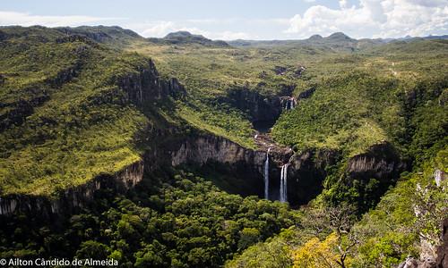 brazil forest landscape waterfall