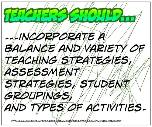 Teachers should...incorporate....