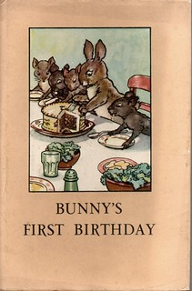BUNNY'S FIRST BIRTHDAY a Vintage Ladybird Book from the Animal Rhymes Series 401 in it's original Dust Cover 1951