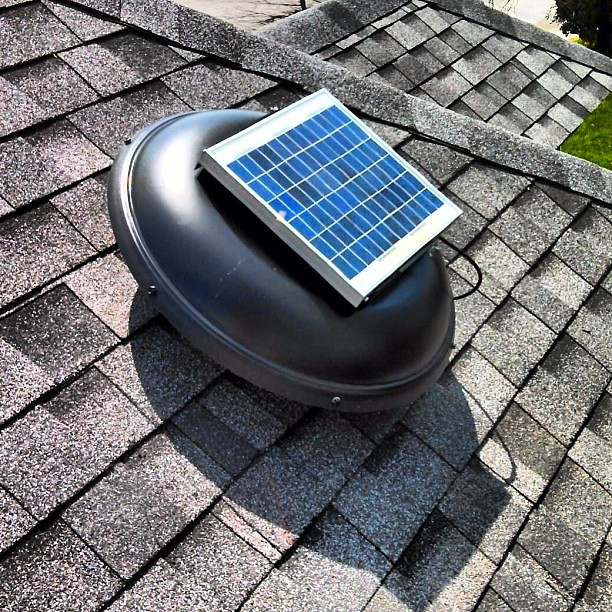 green machine solar powered roof vent