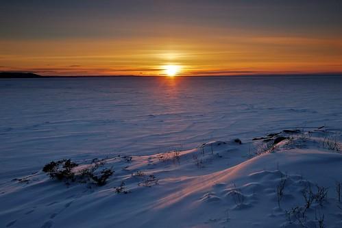 winter sunset snow seascape ontario cold ice water landscape evening frozen wind horizon scenic greatlakes granite whitefishbay lakesuperior frozenover graduatedneutraldensityfilter groscap singhray princetownship gnd3h tgam:photodesk=sunsetrise2013 archeangranite