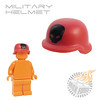 Military Helmet - Red w/ Black Skull