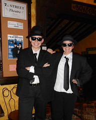 Dressed as the Blues Brothers