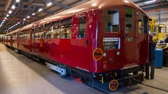 1938 Tube stock at London Transport Museum Acton Depot