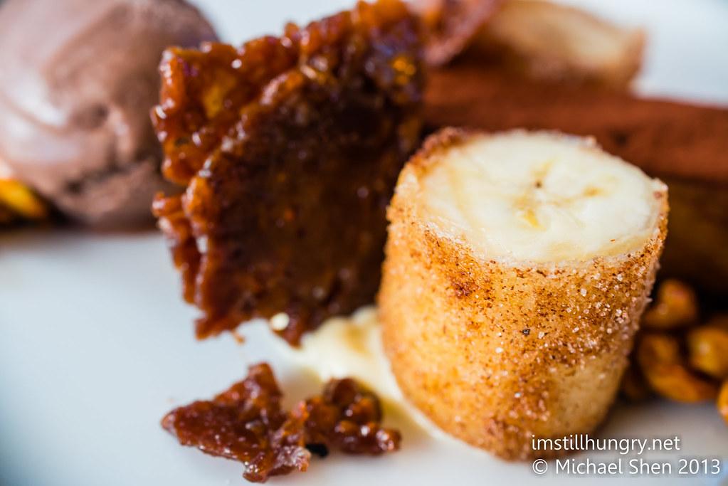 Cafe Sydney fried banana dessert