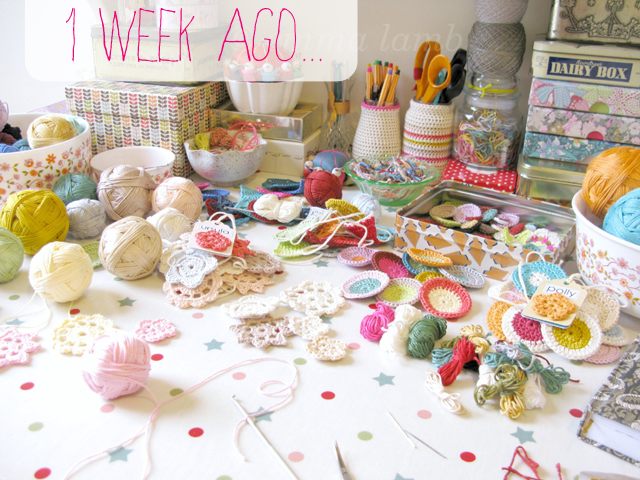 My desk a week ago before I started re-decorating, wonderful tidy and productive workspace! | Emma Lamb