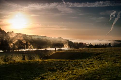 morning mist fog rural sunrise landscape dawn countryside scenery day country scenic valley boyne slane