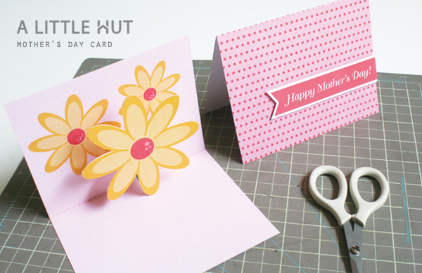 mother's day pop up card (free template)