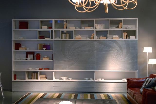 Mazzali: Mday bookcase with Vortex design