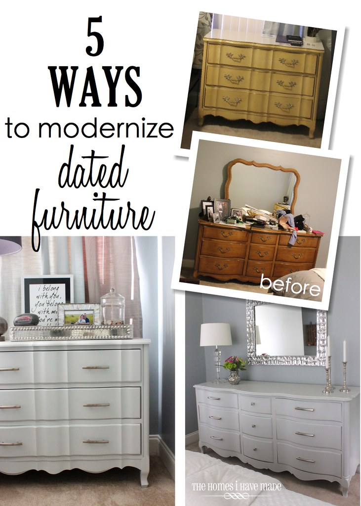 5 ways to modernize dated furniture the homes i have made for Furniture for new house