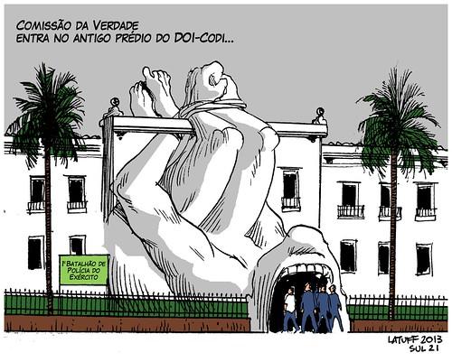 Comissão da Verdade visita antigo DOI-CODI, C. Latuff