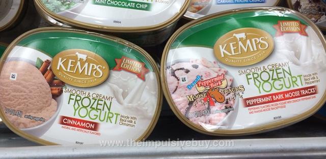 Kemps Limited Edition Cinnamon Frozen Yogurt and Denali Peppermint Bark Moose Tracks Frozen Yogurt