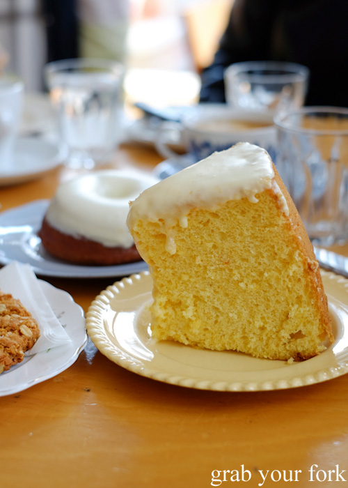 Mandarin chiffon cake at Beatrix, North Melbourne