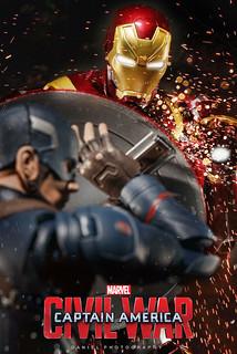 【玩具人。楊書偉。投稿】S.H.Figuarts 鋼鐵人 MK46 & 美國隊長 劇照寫真