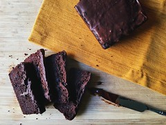 Chocolate beetroot cake.
