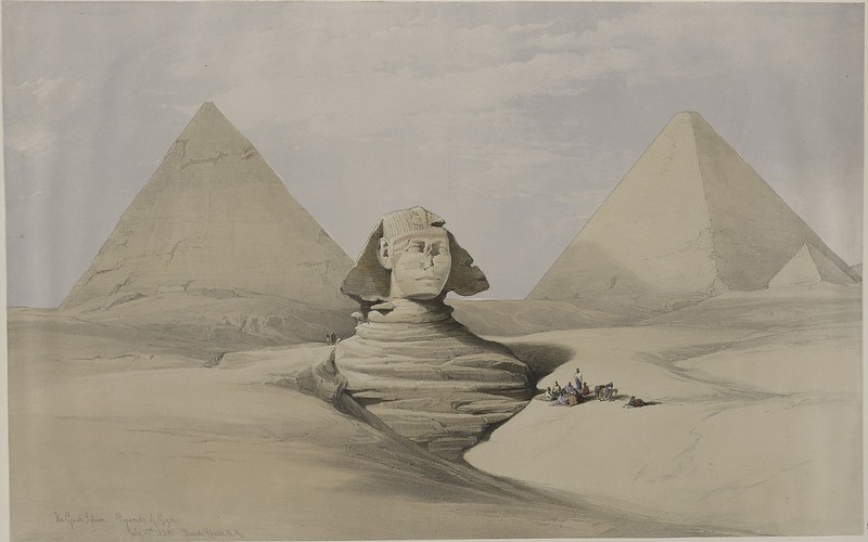 Sphinx and Pyramids 1839