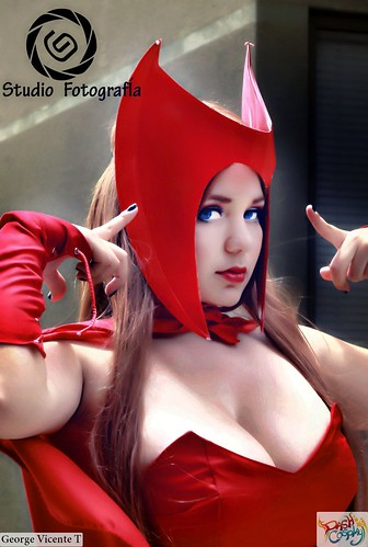 Women of Marvel:  Scarlet Witch Wolverine Cosplay by Lucy & Rini