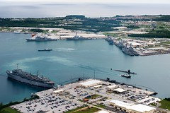 160926-N-NT265-093 APRA HARBOR, Guam (Sept. 26, 2016) Ships from Carrier Strike Group Five including, USS Barry (DDG 52), USS Benfold (DDG 65), USS Chancellorsville (CG 62), USS Curtis Wilbur (DDG 54), USS McCampbell (DDG 85) as wells as USS Stethem (DDG