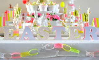Easter decorated letters