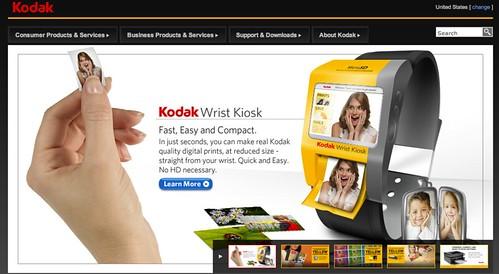 Kodak wrist kiosk