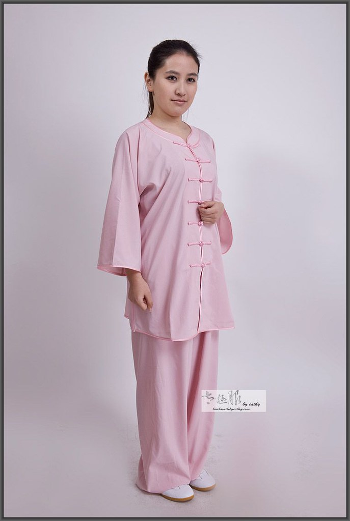 16012-2 low collar low collar cotton spandex blend Tai Chi suit
