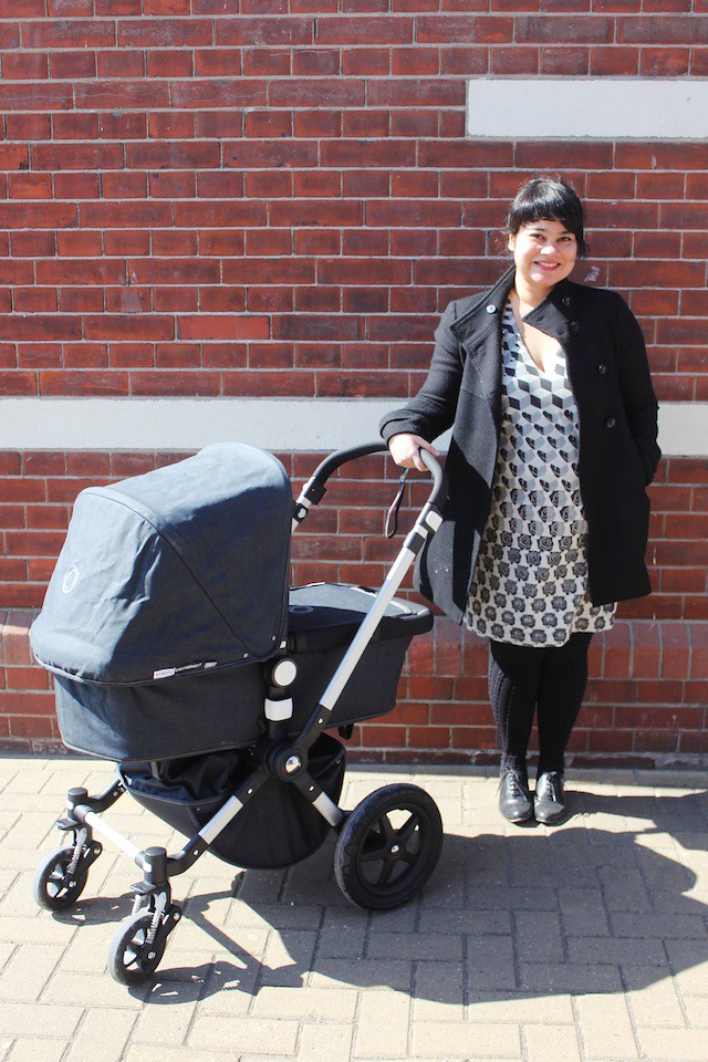 Amsterdam mom with Bugaboo Cameleon denim