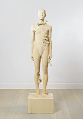 <strong>The Tainted - </strong> <br />Aron Demetz, Pholiota Denuntians, 2011, Maplewood and silicon, 50 cm x 50 cm x 200 cm